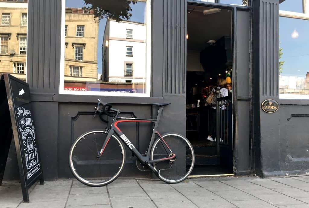 Bike outside pub