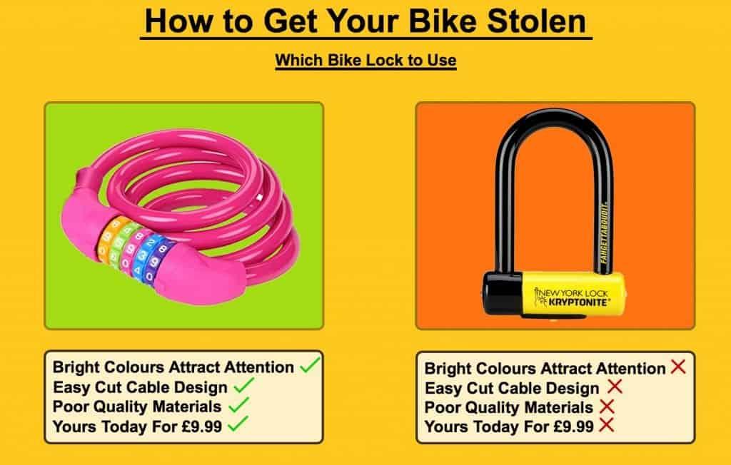 How to get your bike stolen