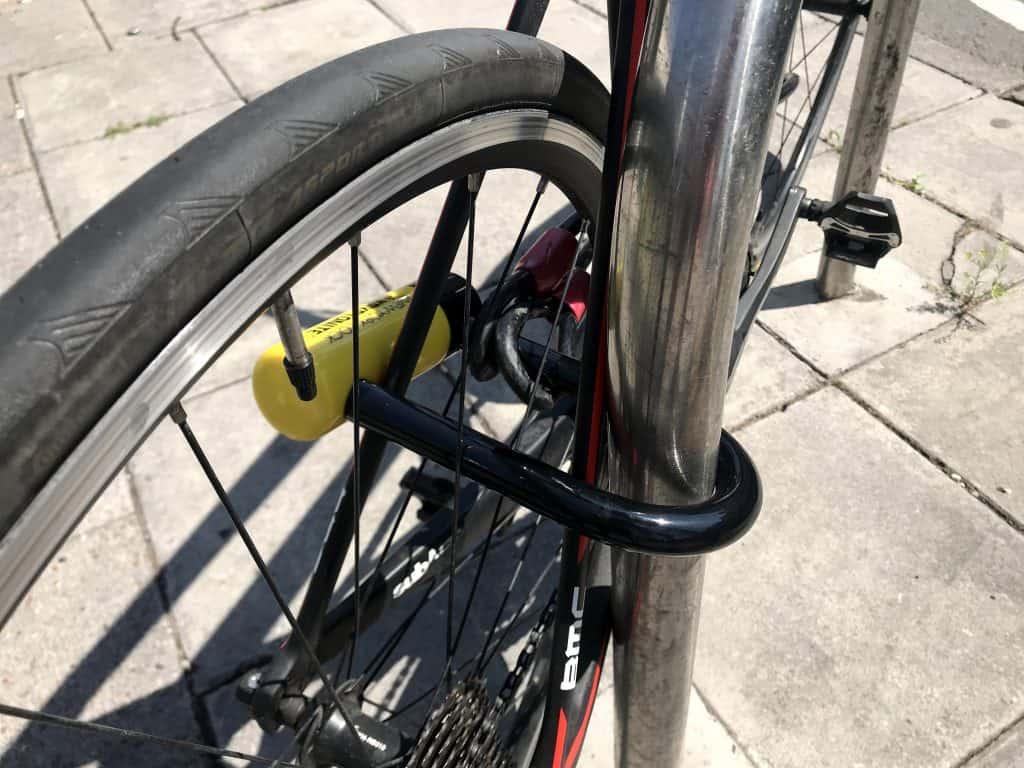 How to lock a bike kryptonite fahgettaboudit