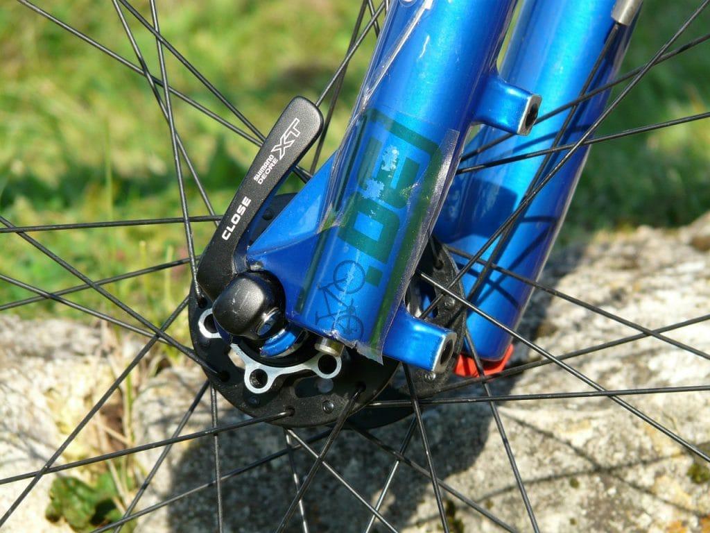 Quick release bike wheel