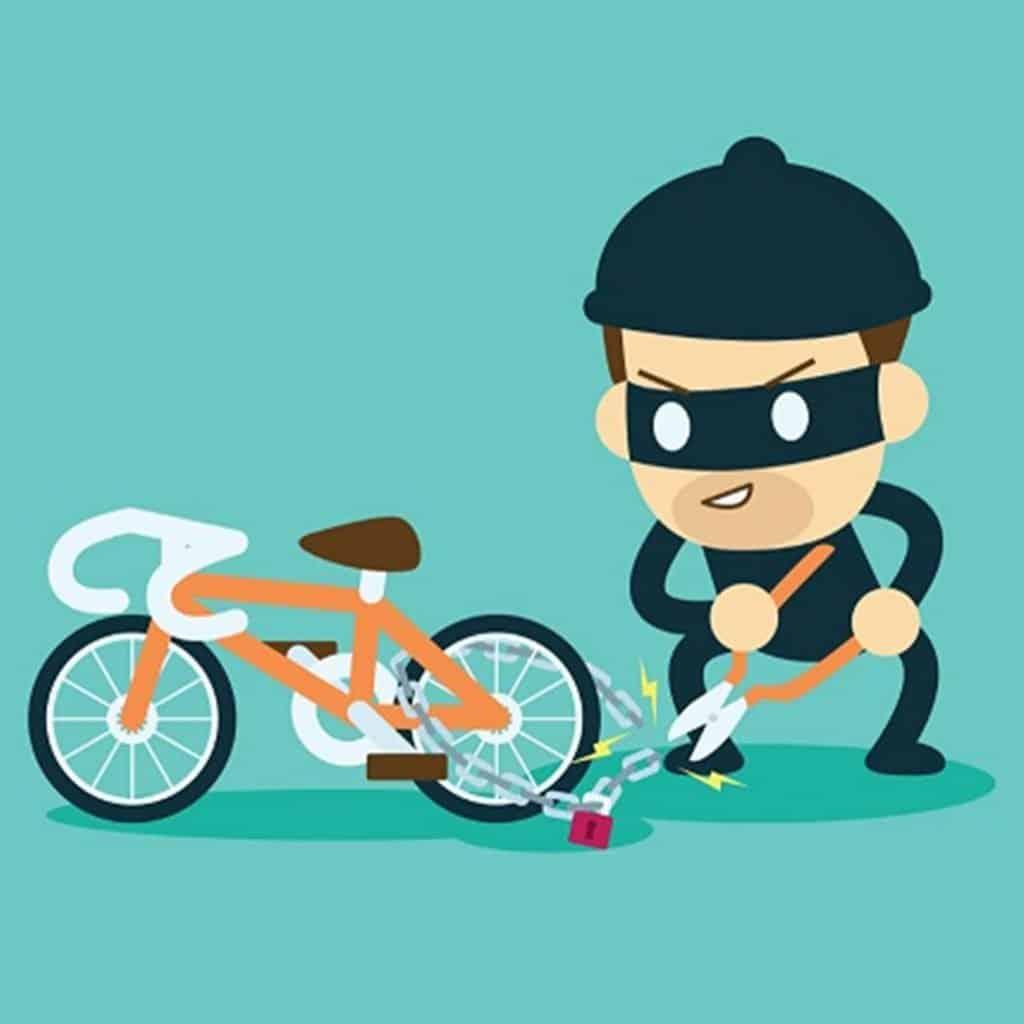 Bike Thief Cartoon Stealing
