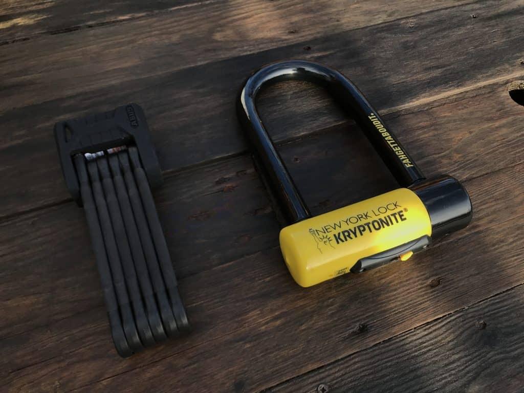 ABUS Bordo Granit 6500 X Plus & Kryptonite Fahgettaboudit Mini Bike locks