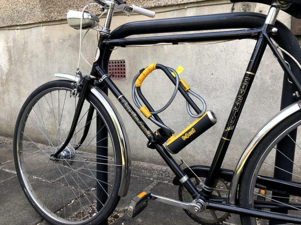 OnGuard Pitbull Mounted on Bike
