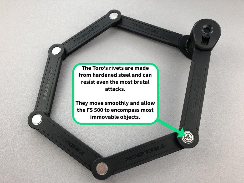 Trelock FS 500 Toro rivets