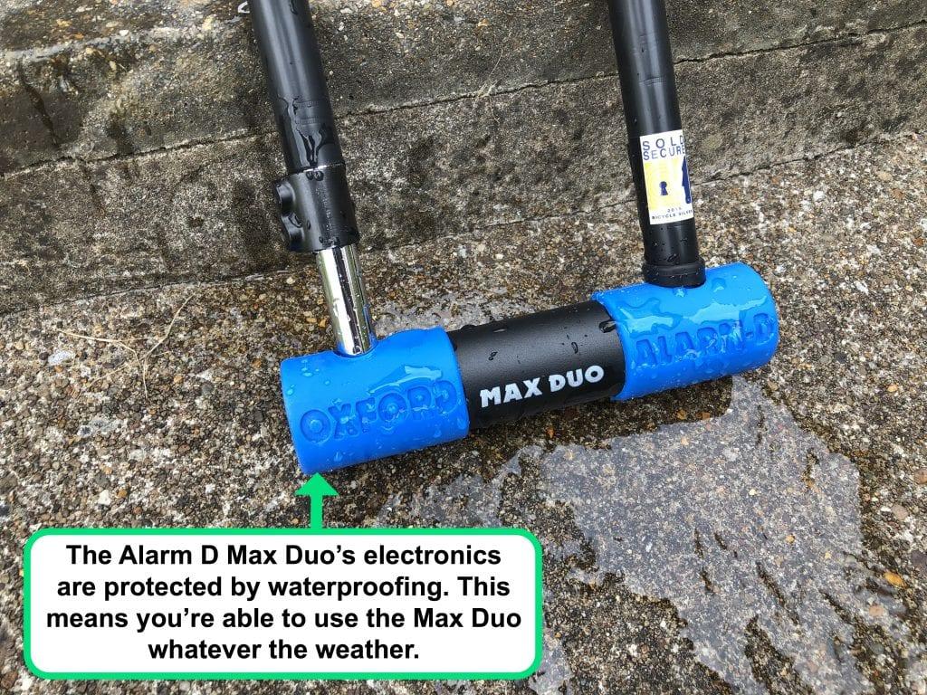 Alarm D Max Duo waterproofing