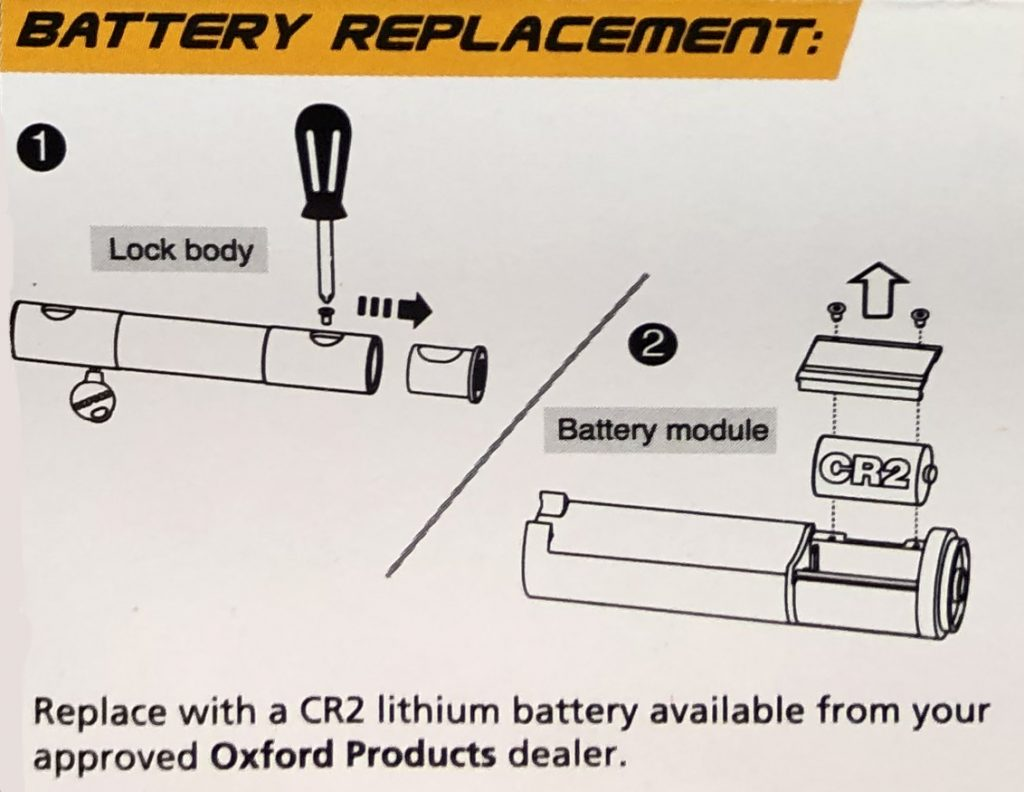 How to replace Oxford Alarm D batteries