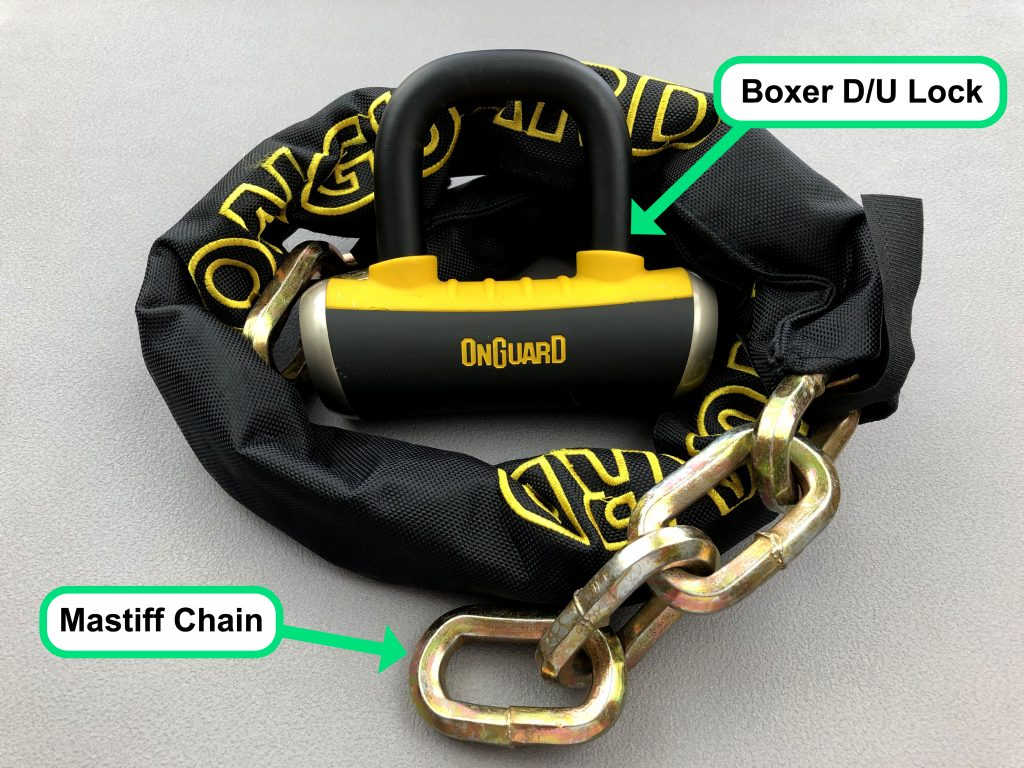 OnGuard Mastiff chain & Boxer D/U lock