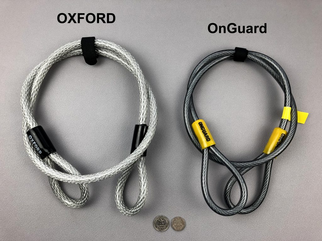 Oxford Alarm D extension cable vs OnGuard extension cable