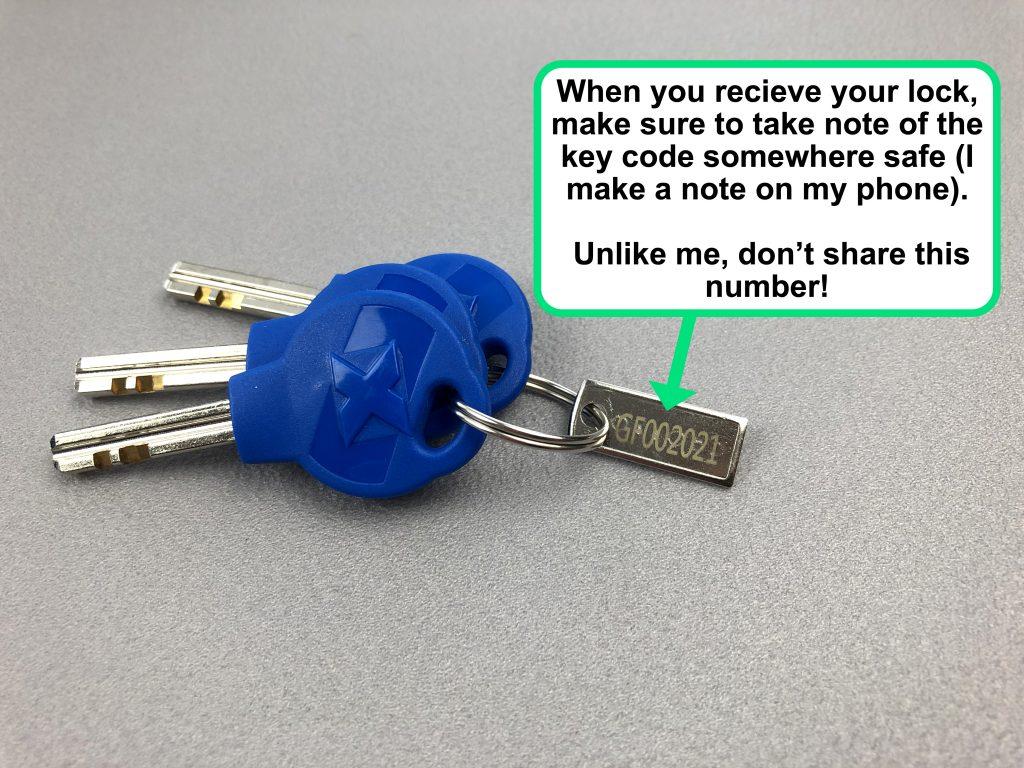 Oxford bike locks key code for replacement key service