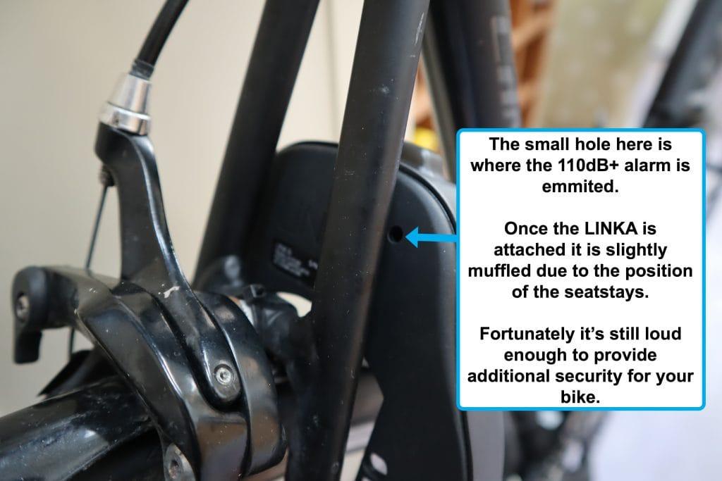 Linka 110dB+ anti-theft alarm