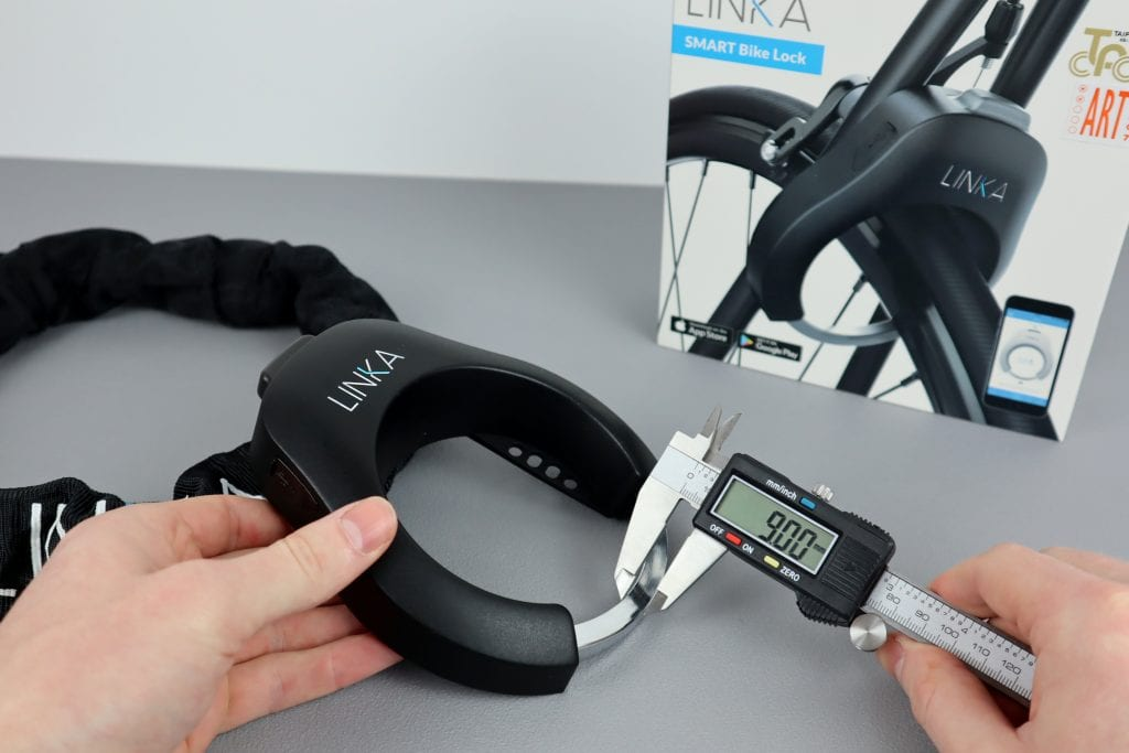 Linka Bluetooth Bike Lock Shackle Width
