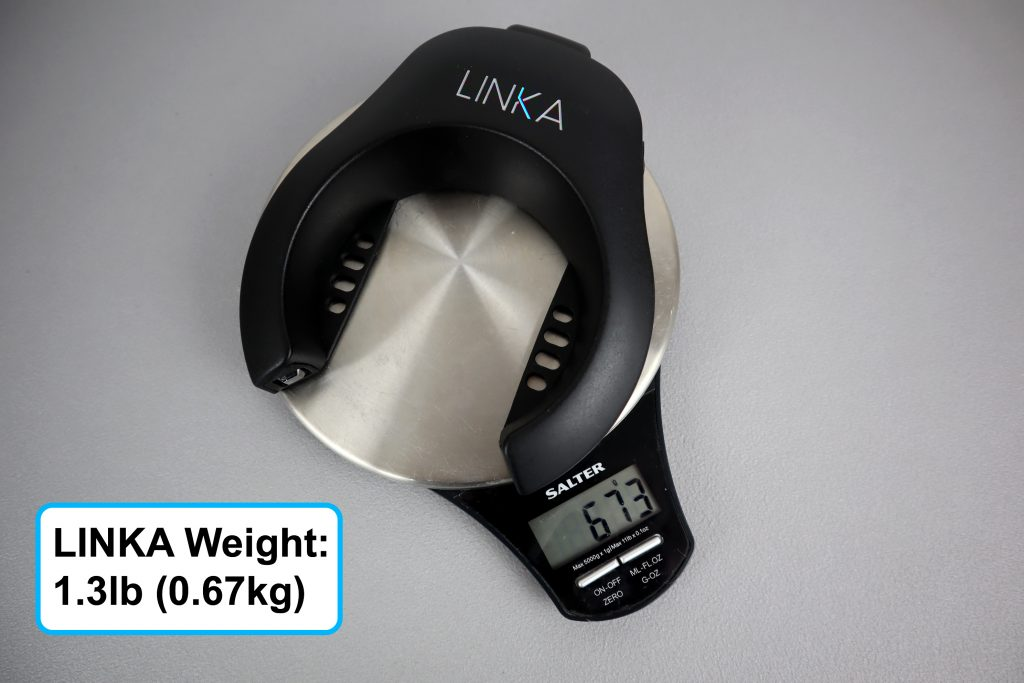 How much does the Linka smart lock weigh?