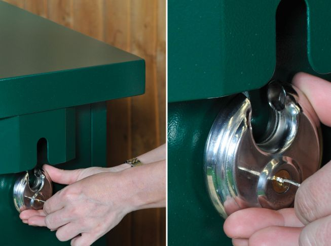Asgard Access 4 Metal bike shed security features