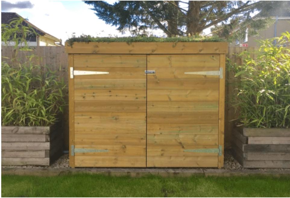 Bluum Bespoke Wooden Bike Shed With Doors & Lock