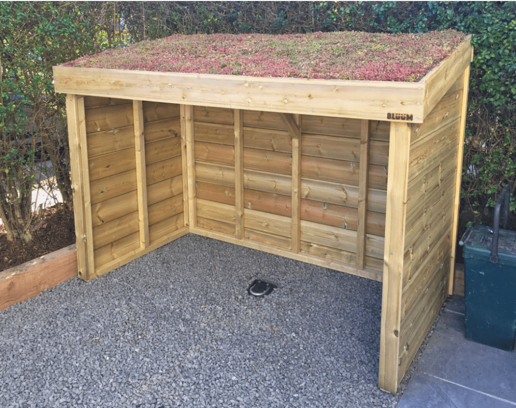Bluum Wooden Bike Shed with Green Roof