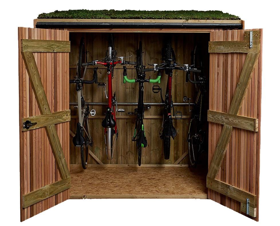 Brighton Bike Shed Vertical Bike Storage