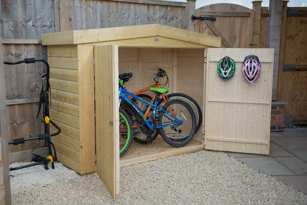 Forest Shiplap Wooden Bike Shed