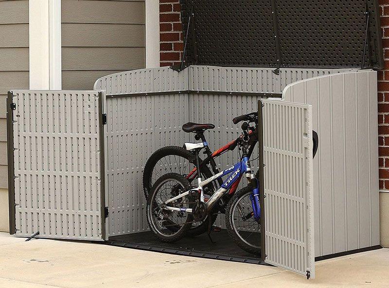 Lifetime heavy duty bike storage shed