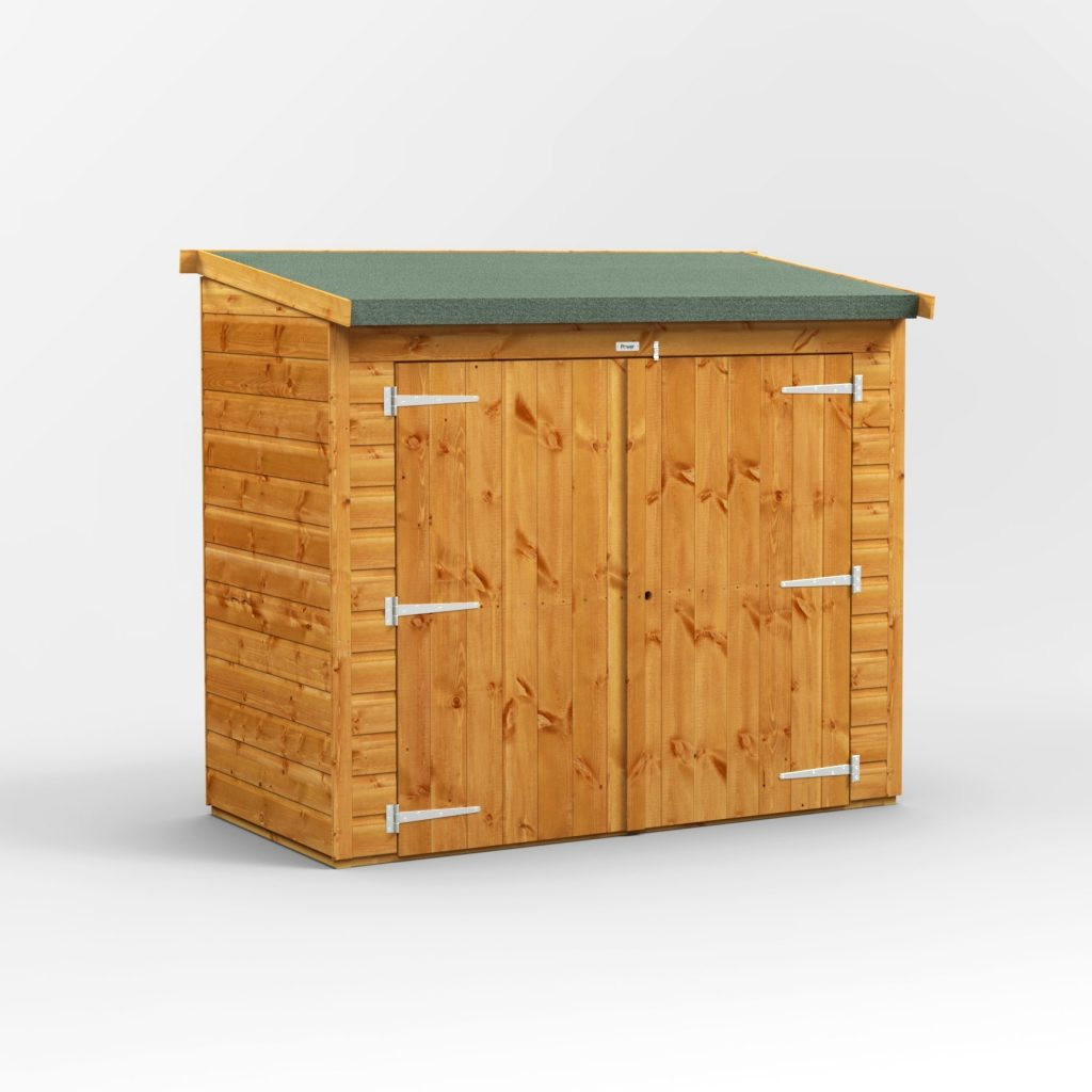 Power 6x3 Pent Bike Shed Low