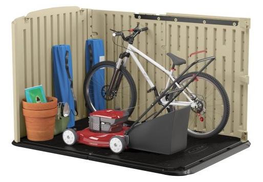 Suncast Glidetop Plastic Bike Shed Storage