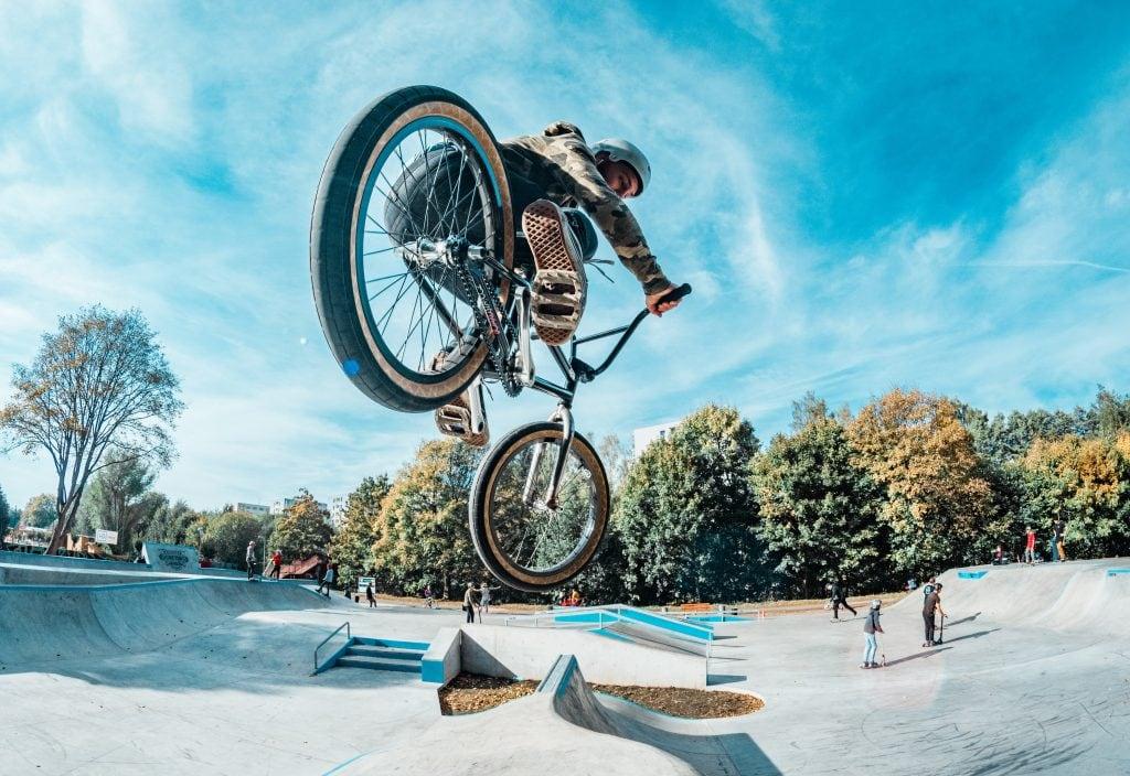 BMX rider doing tricks