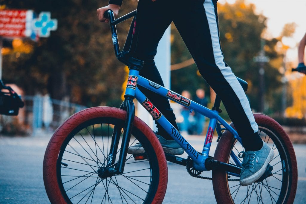bicycle motocross bike with stickers