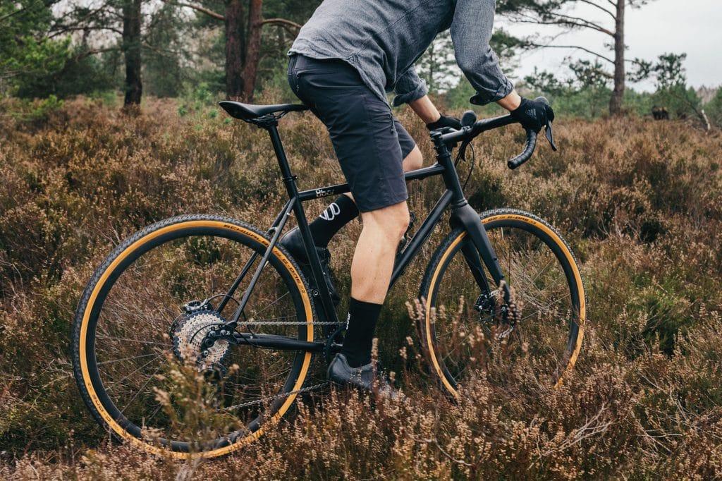 Off-road gravel biking