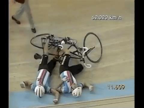 Tandem bike crash