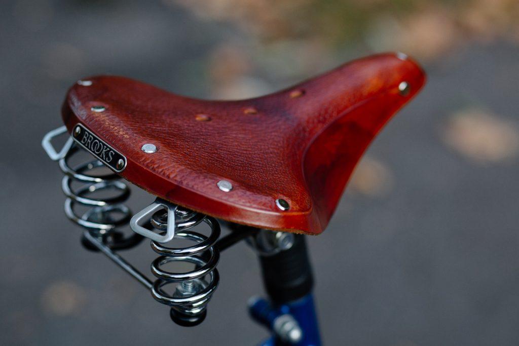 saddle of a comfort bike