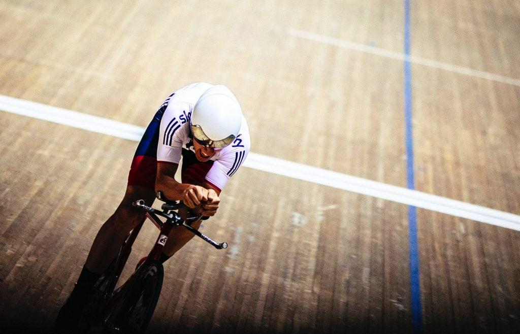 Olympic track cyclist