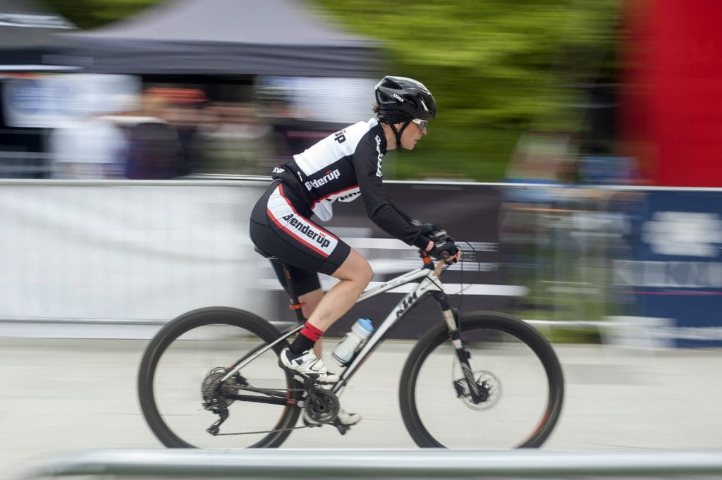 Hardtail mountain bike race