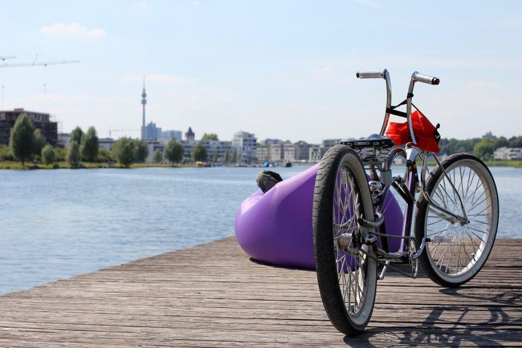 Lowrider cruiser bicycle