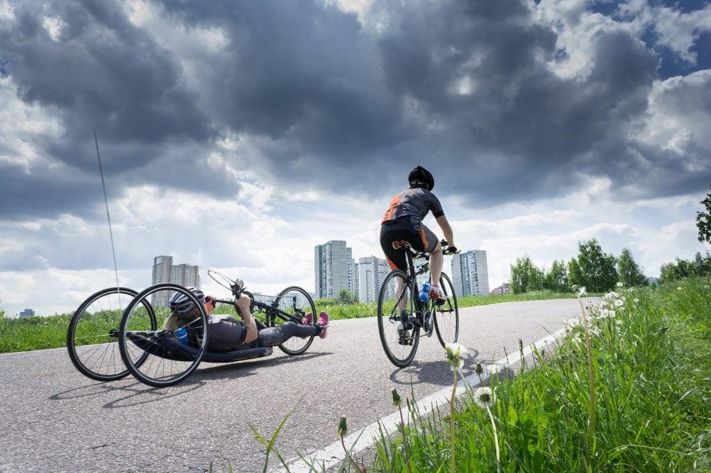recumbent bike vs road bike race