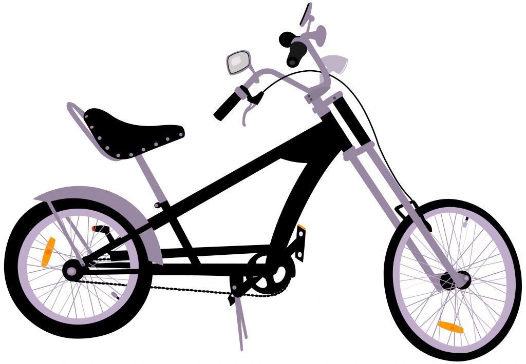 Chopper cruiser bicycle