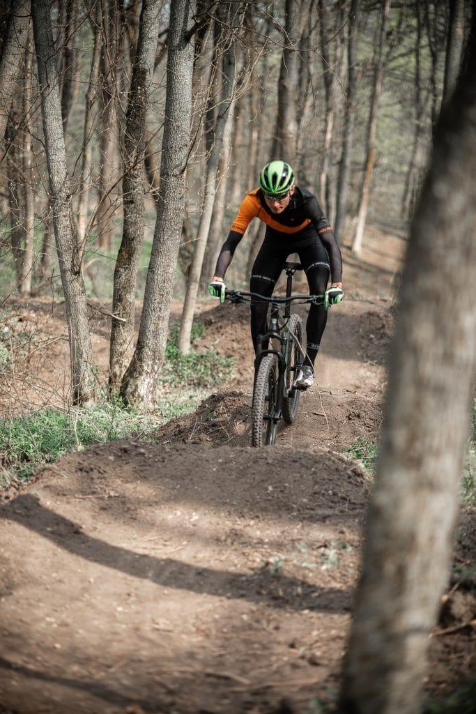 Hardtail bike trail