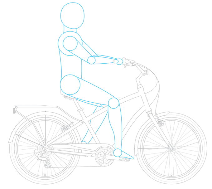 riding position of a cruiser bike