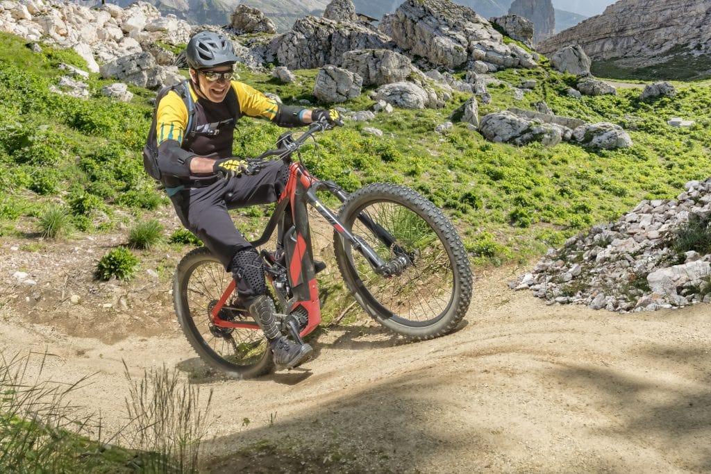 e bike rider on electric mountain bike
