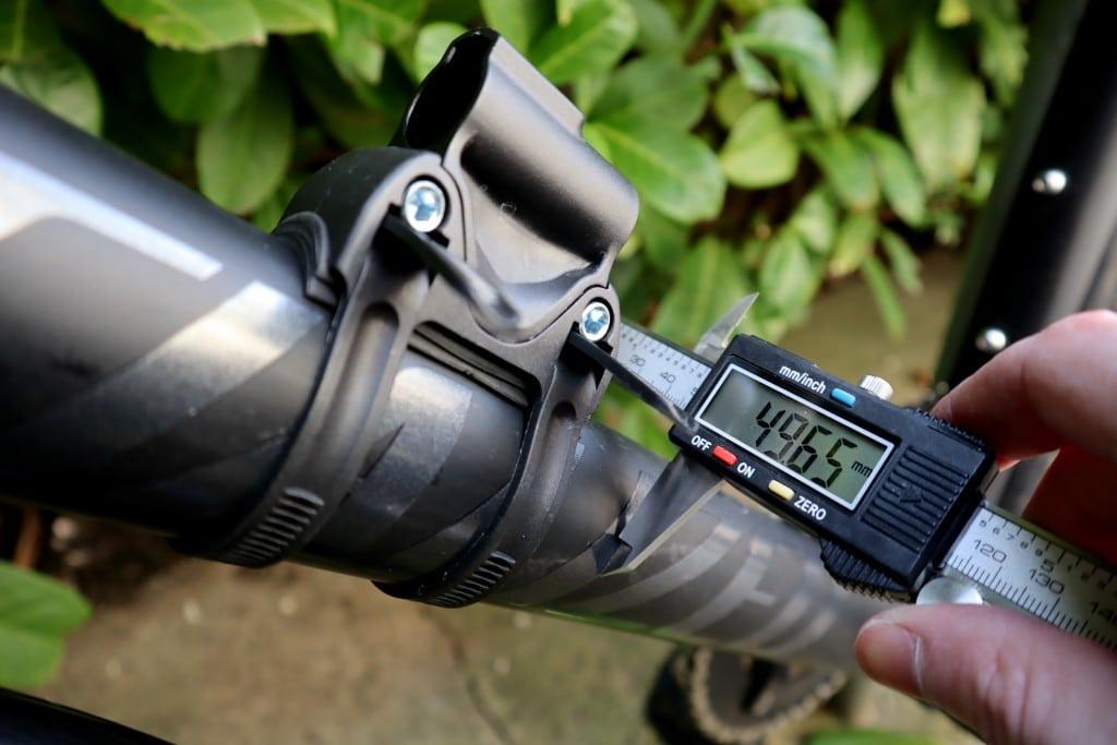 Bike Down tube width measurement
