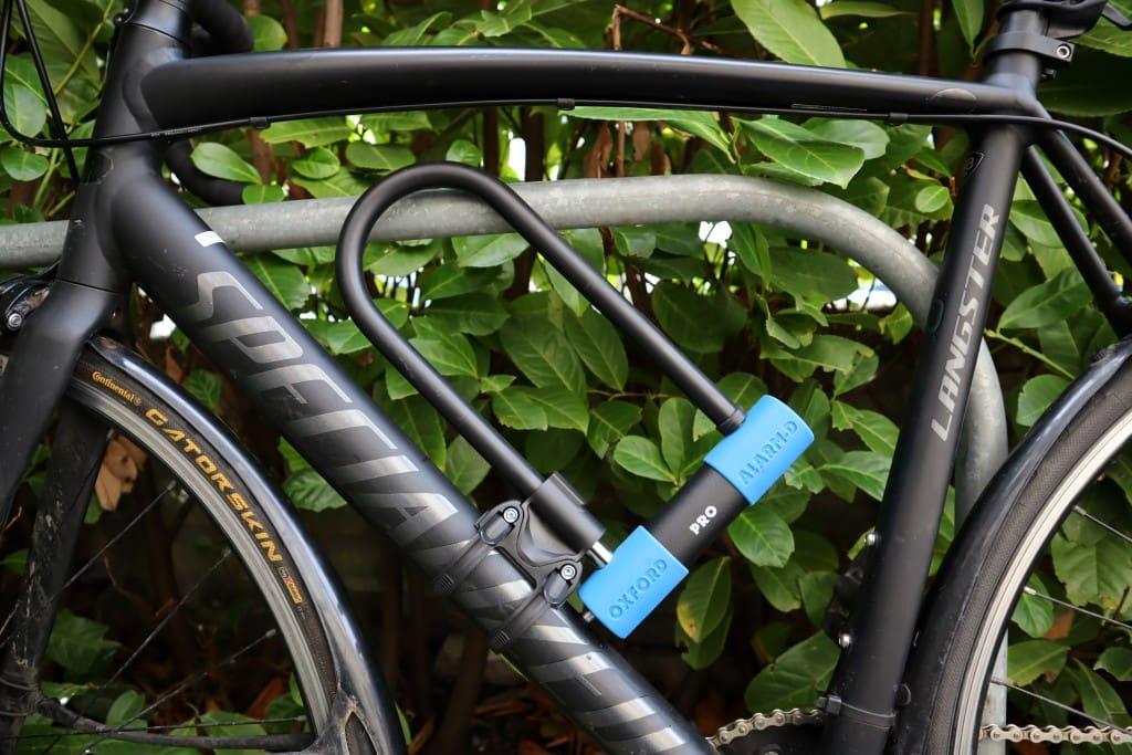 Oxford Alarm-D Pro 320 Mounted on Bike