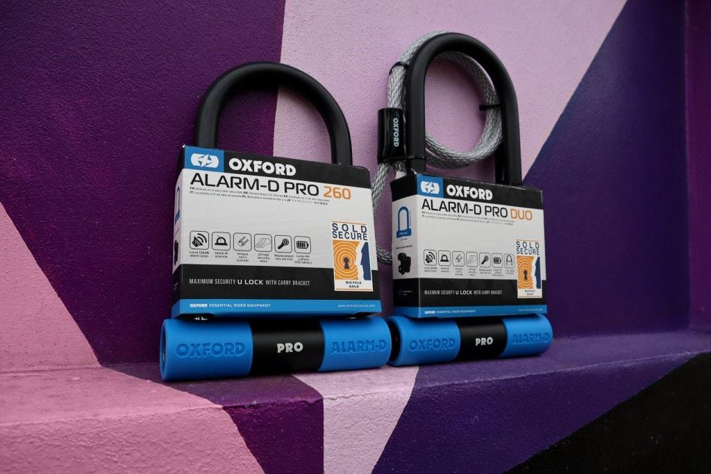 Oxford Alarm-D Pro Bike Locks Colourful