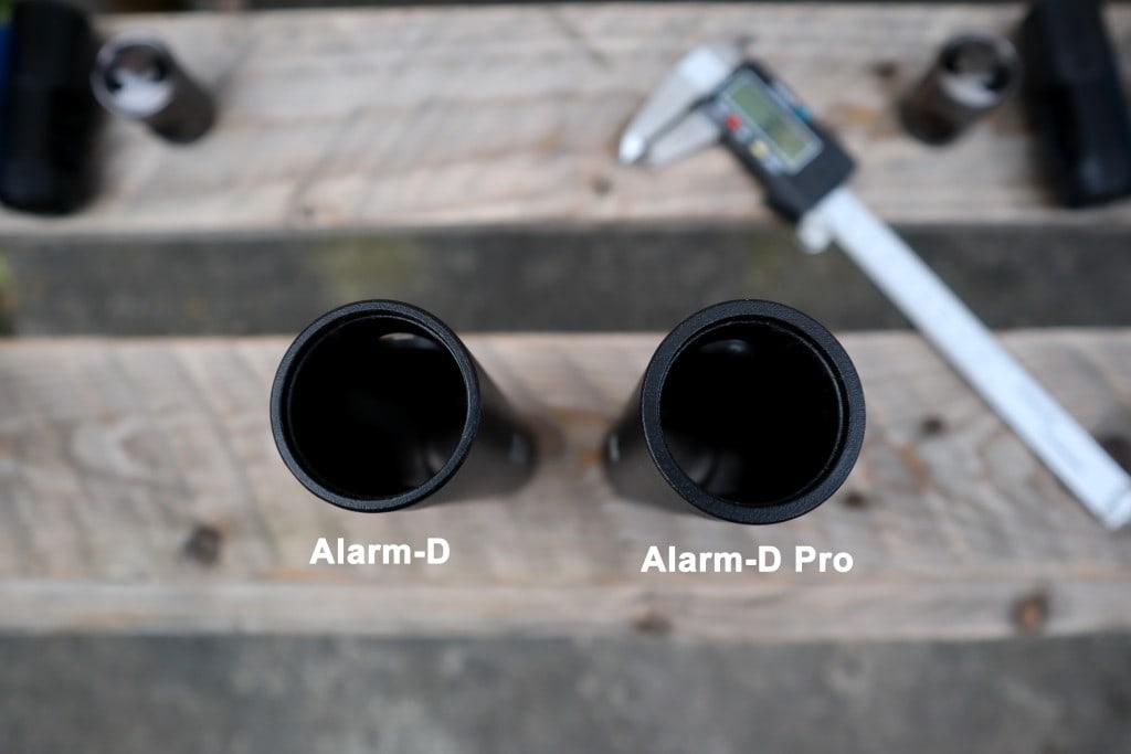 Alarm-D vs Alarm-D Pro mechanism housing thickness