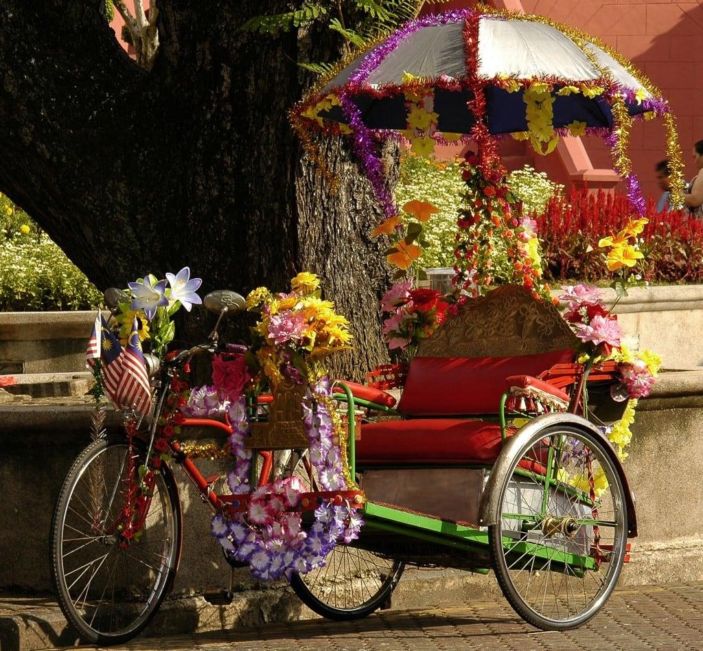 rickshaw bike with colourful decorations
