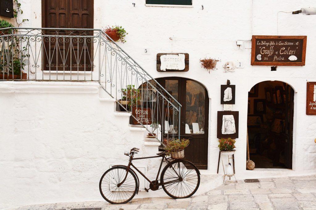 traditional roadster city bike