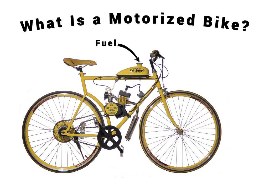 An image showing a motorized bike?