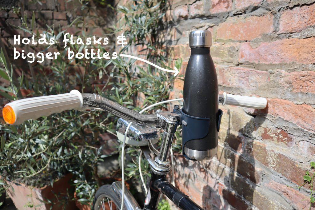 Bike handlebars flask holder