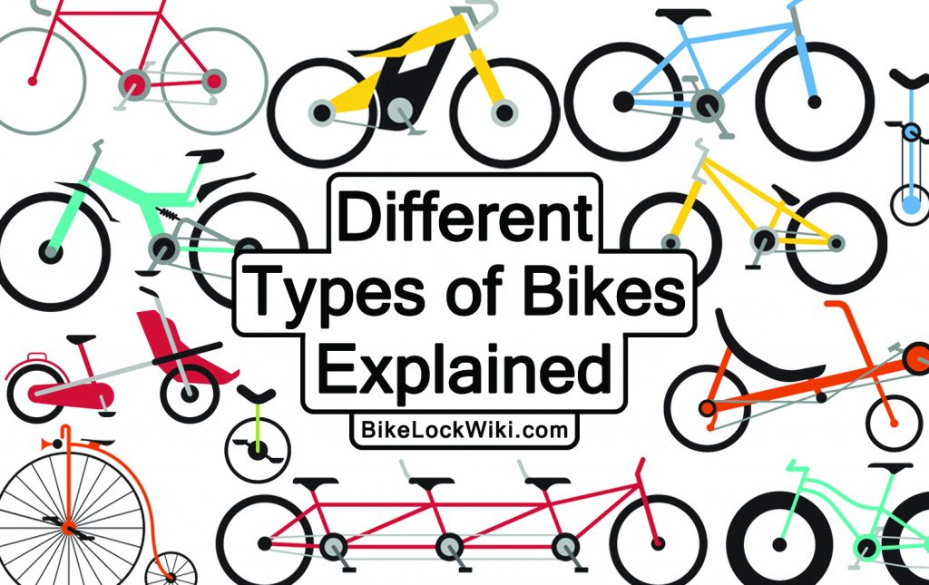 an image displaying many different types of bikes