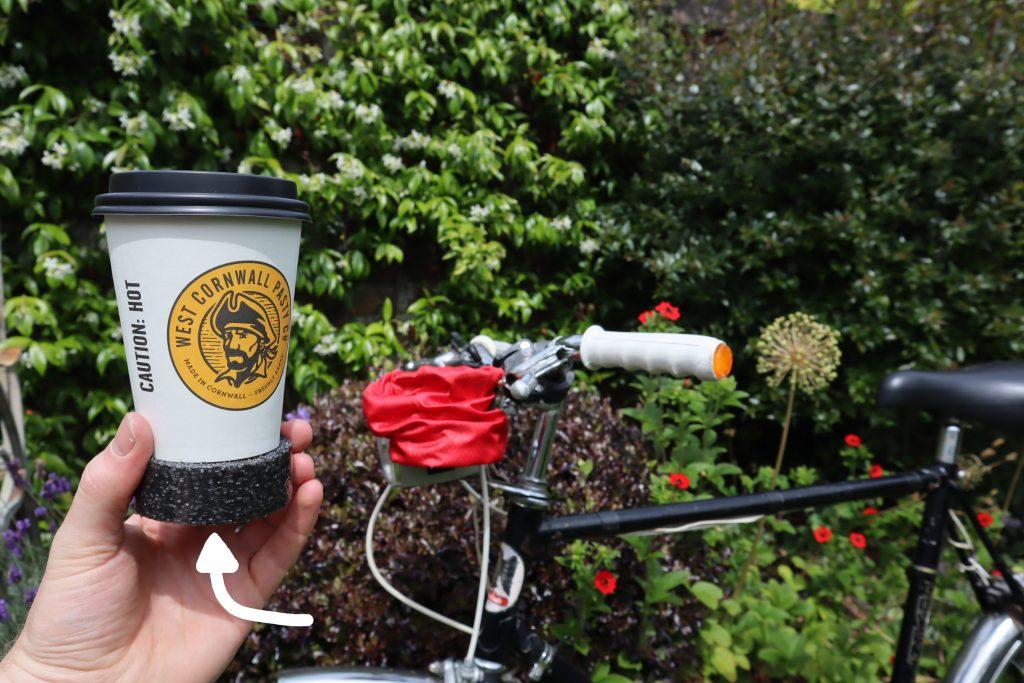 removable spacer for HandleStash bike cup holder