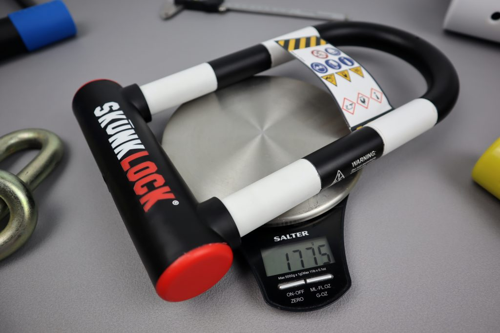 How much does the skunklock bike lock weigh