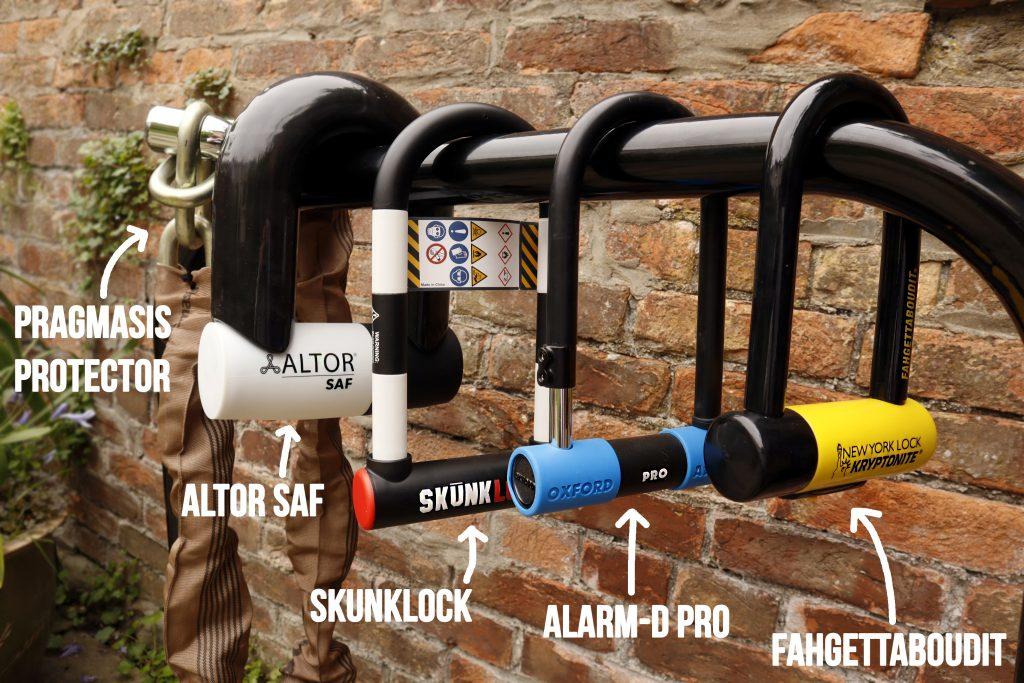 five unbreakable bike locks