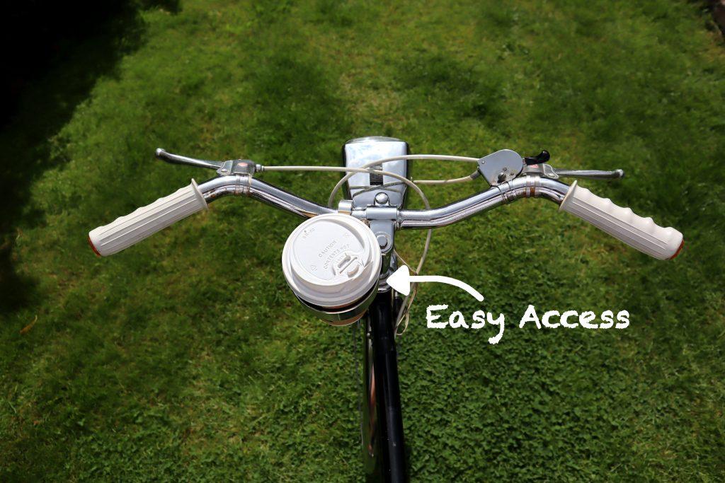 aluminium bicycle handlebar drinks holder